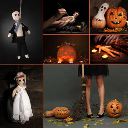 Collage of Halloween photo