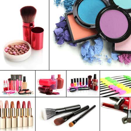 kosmetik: Collage von kosmetischen