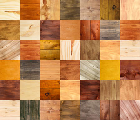 polished wood: Collage of different wooden texture