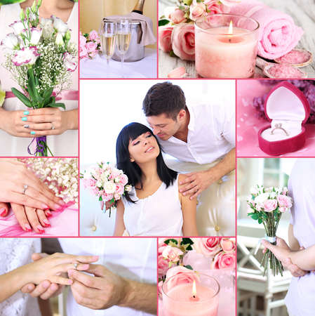 Collage of wedding photo