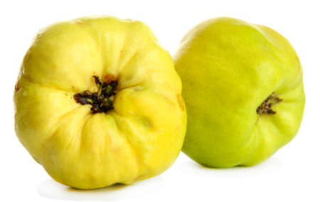 quinces: sweet quinces, isolated on white