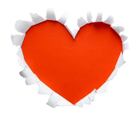 Beautiful torn paper in heart shape symbol  photo
