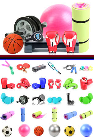 Sports equipment collage photo