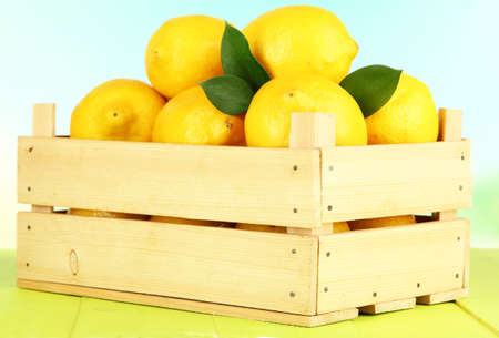 Ripe lemons isolated on white photo