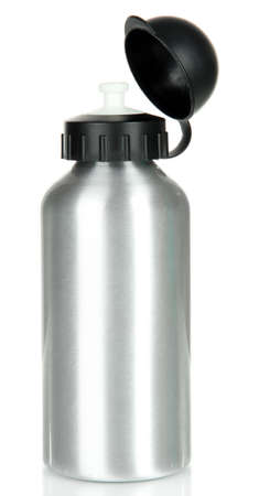 grey water: Sports bottle isolated on white Stock Photo