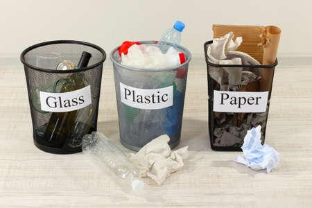 Three buckets of assorted debris  photo