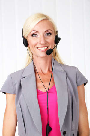 Call center operator in office photo