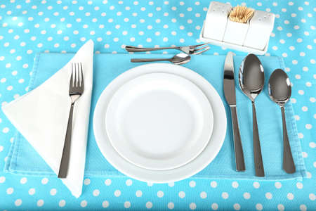 Table setting for breakfast photo