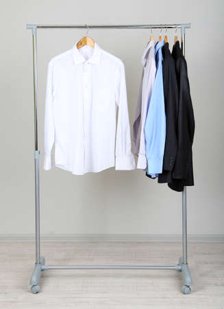clothing rack: Office  male clothes on hangers