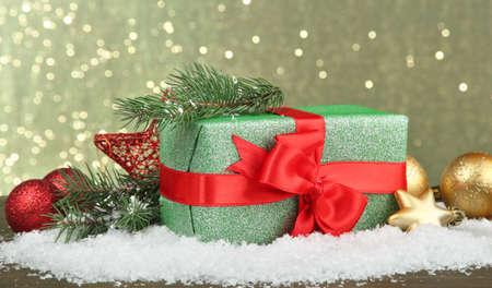 Beautiful bright gift and christmas decor photo