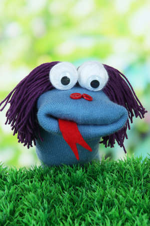sock puppet: Cute sock puppet  Stock Photo