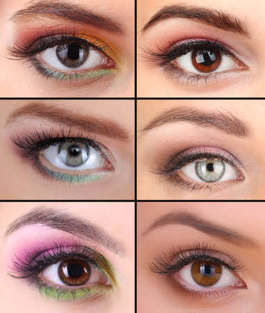Collage of different beautiful make-up Stock Photo - 23302696