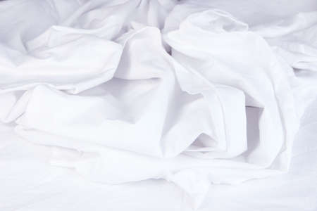 rumpled: Close up of bedding sheets