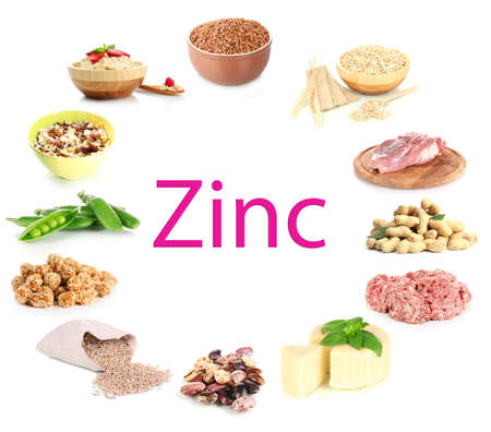 containing: Collage of products containing zinc