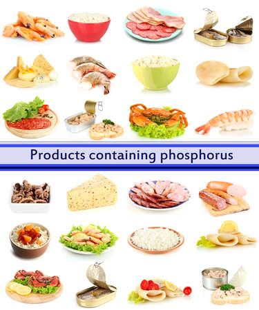 phosphorus: Products containing phosphorus isolated on white