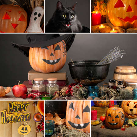 Halloween collage photo