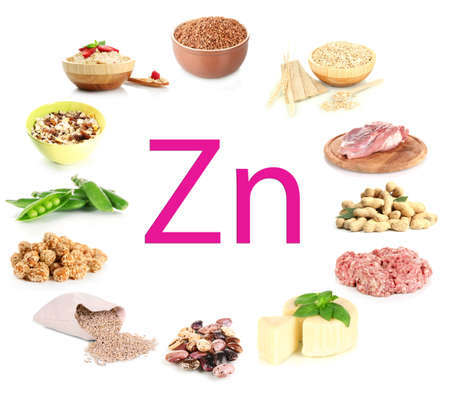 zinc: Collage of products containing zinc