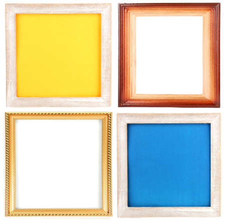 Collection of  frames isolated on white photo