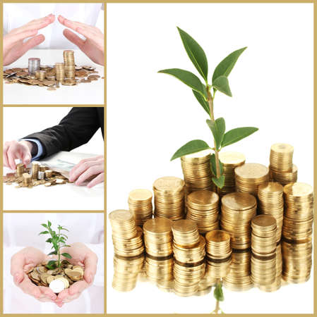 Finance concept collage photo