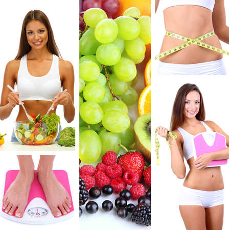 women body: Diet collage