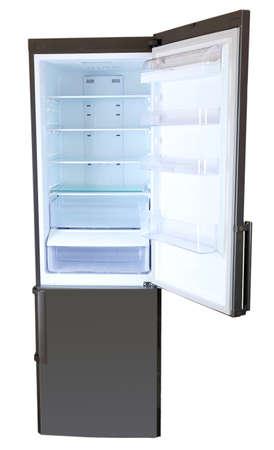 Two door gray refrigerator photo