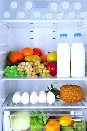 Refrigerator full of food Stock Photo - 23733442
