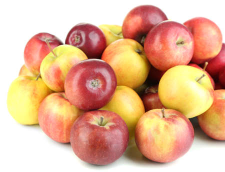 Juicy apples isolated on white Stock Photo