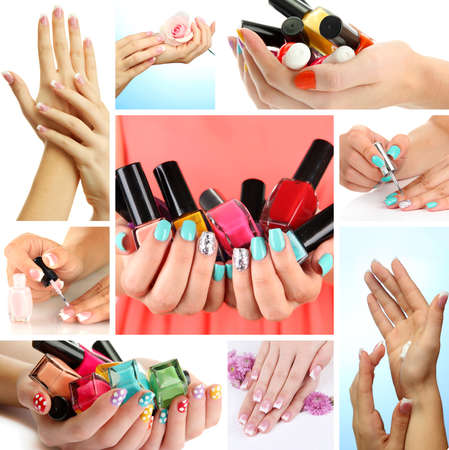 Collage of beautiful woman manicure Stock Photo - 23802673