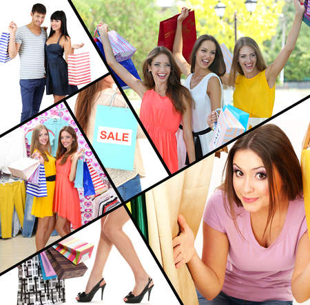 buy products: Shopping collage