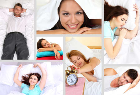 Waking up themed collage photo