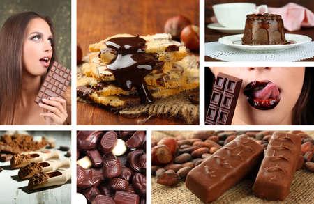 Chocolate collage photo