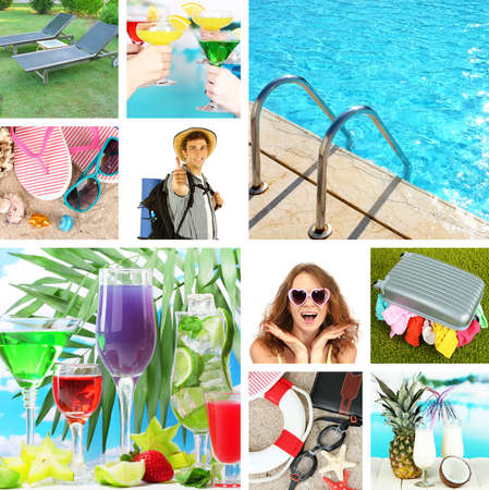 Summer vacation collage Stock Photo - 24175291