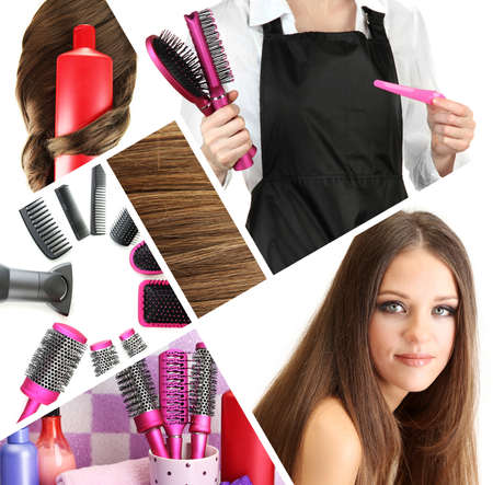 Hairdressing collage photo