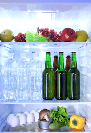 Refrigerator full of food Stock Photo - 24012877
