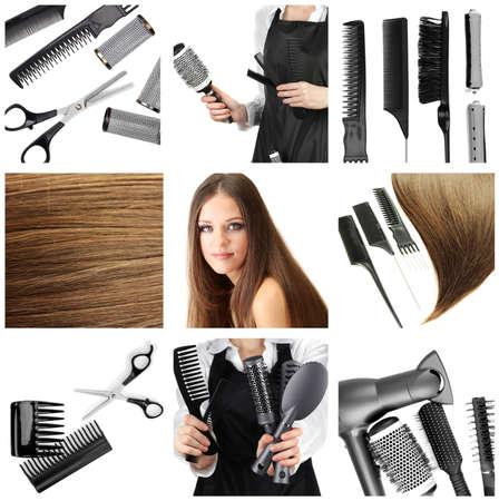 hairdressing accessories: Hairdressing collage