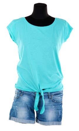 Female t-shirt isolated on white Stock Photo - 24178778
