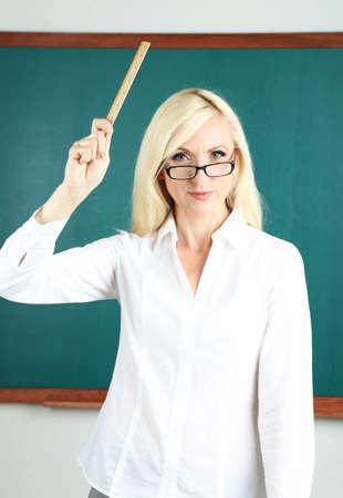 School teacher get angry in classroom  photo