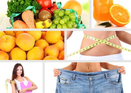 Diet collage photo