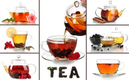 Tasty tea collage