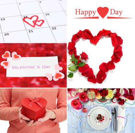 Valentines Day collage Stock Photo