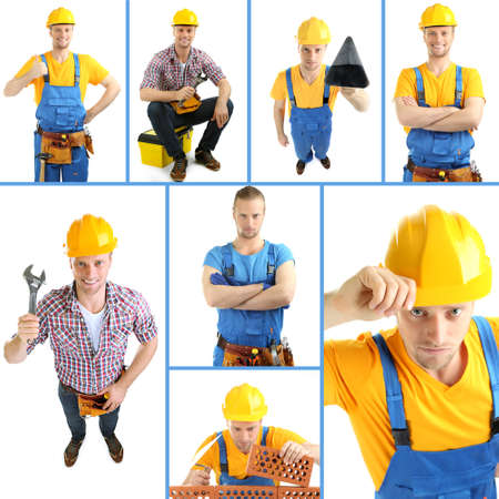 Collage of manual worker photo