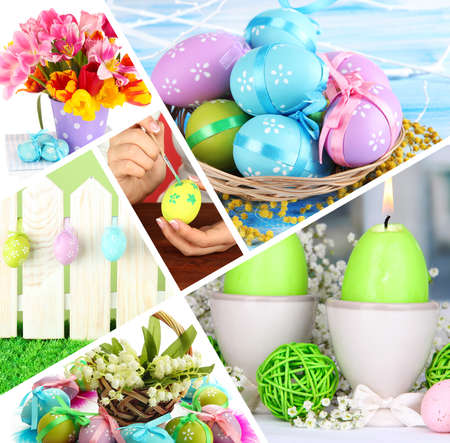 Collage of colorful Easter photo