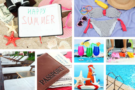 Summer vacation collage photo