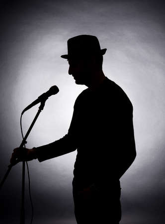 singer silhouette: Musician silhouette