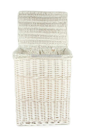 Laundry basket isolated on white photo