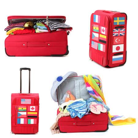 bandera panama: Collage de equipaje para los viajes