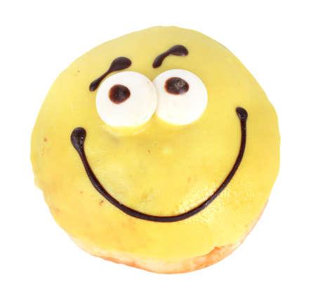 Sweet donut isolated on white photo