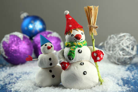 Beautiful snowmen and Christmas decor photo