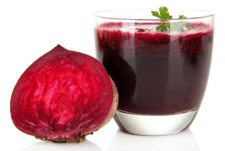 beet juice: Fresh juice of beets isolated on white