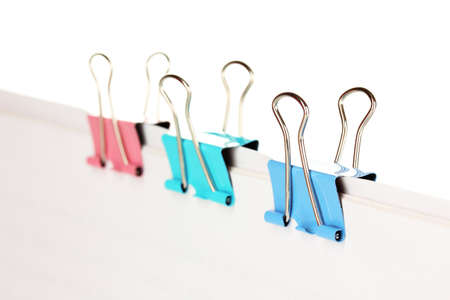 Documents with binder clips